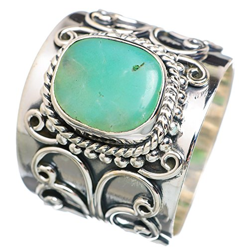 Ana Silver Co Large Chrysoprase 925 Sterling Silver Ring Size 8