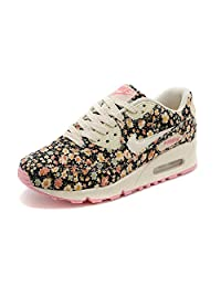 Womens Nike Air Max 90 Black Pink Floral, Size 7