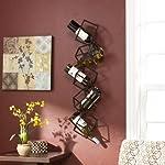 Metal Wall Mount Wine Holder Rack Sculpture