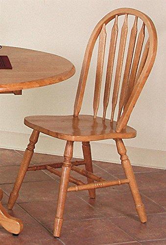 38 In Arrowback Chair Set Of 2 Light Oak