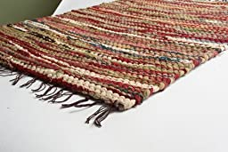 Prairie Rugs Heavy Weight Cotton Rag Rug, 3 x 5, Mixed Colors