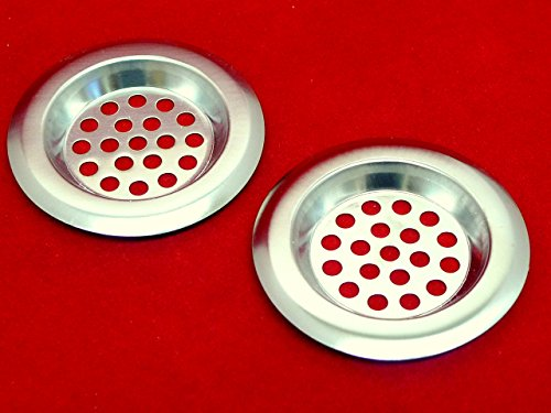 Sink Strainer Kitchen Bath Bathroom Basin Plug Hole Filter Hair Trap - Twin Pack - UK Dispatch - Cherry's Store