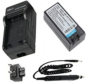 Battery + Charger for Sony NP-FC10, NP-FC11 and Sony Cyber-shot DSC-P2, DSC-P3, DSC-P5, DSC-P7, DSC-P8, DSC-P9, DSC-P10, DSC-P12, DSC-F77, DSC-FX77, DSC-V1 Digital Camera