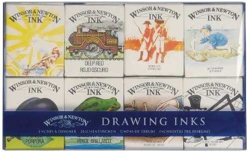winsor-newton-william-coleccion-de-tintas-para-dibujo-8-frascos-de-14-ml