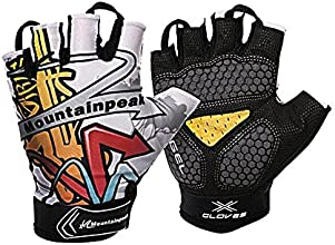 Rayhome Pair of Gel Pad Cycling GlovesSuper Breathable Riding GlovesWidely Used in CyclingMountainee