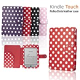 """eLifeStore� Stylish Polka Dot Kindle Touch / Kindle Paperwhite PREMIUM Leather Case Flip Cover Wallet with Magnetic Flap Closure for New 2012 Amazon Kindle Touch / Kindle Paperwhite Wi-Fi 3G 6"""" inch - Book Style (Red and White Polka Dot)by eLifeStore"""