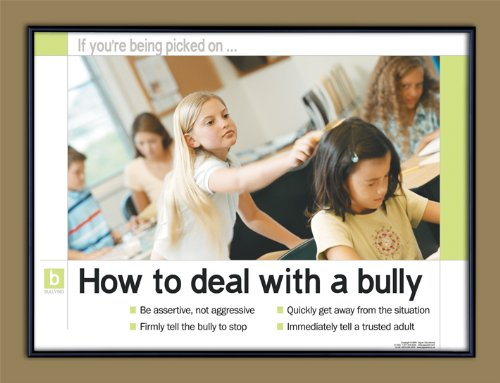 Bullying Prevention: How To Deal With A Bully Framed Educational Poster. Guidance Art Print.