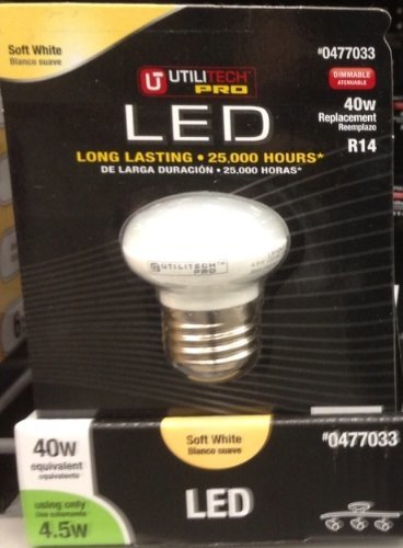 Utilitech 4.5-Watt (40 W) R14 Soft White LED