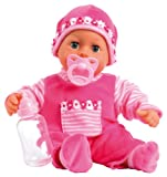 Bayer Design 15inch First Words Baby Doll (Pink)