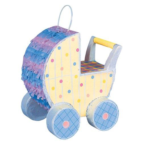 "Baby Stroller Pinata Decoration 10"" X 9.5"" front-926337"