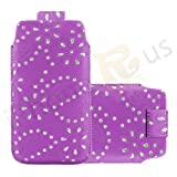 IPhone R Us® XL - Superior Glitter PU Soft Leather Pull Flip Tab Case Cover Pouch For Acer Liquid E2 -13 Colours To Pick From (Light Purple)