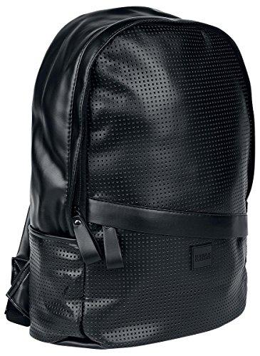Urban Classics Uomo Accessori / Zaino Perforated Leather Imitation nero One Size
