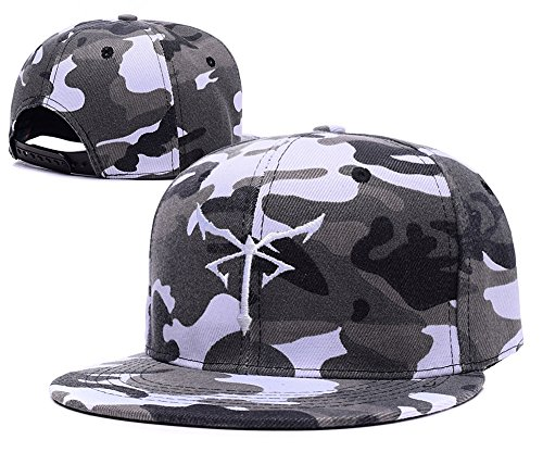 [Jeffrey Resident Evil Los Illuminados Symbol Camo Cap Camouflage Snapback Hat] (Leon Kennedy Costumes)