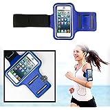 SAVFY® Bleu Brassard Armband Sport pour iPhone 4 4S 5 5S 5C pour le Jogging / Gym / Sport - confortable avec sangle réglable