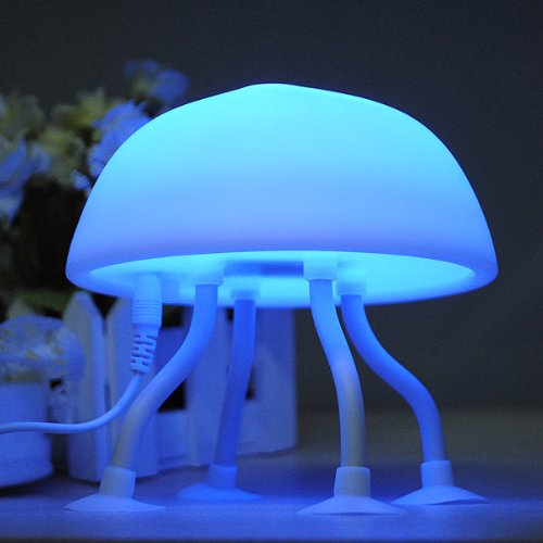 Diy Led Jellyfish Lamp Desk Lamp Small Night Light By 24/7 Store