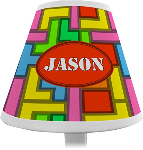 Tetris Print Chandelier Lamp Shade (Personalized) front-186551
