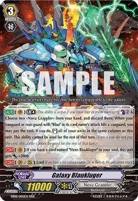 Cardfight!! Vanguard Tcg - Galaxy Blaukluger (Eb08/002) - Extra Booster Pack 8: Champions Of The Cosmos front-571869