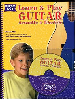 learn play acoustic electric guitar first act discovery debbie cavalier books. Black Bedroom Furniture Sets. Home Design Ideas