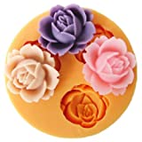 Syhonic Office School Educational DIY Craft Silicone Mold 1.8cm Cute Small Flowers Silicone Fondant Sugar Pudding Mini Mold Craft Mold DIY Cake Cookie Decorating Mold Tray …
