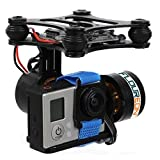 Floureon CNC Brushless Gimbal Camera Mount with Motor & Controller for Gopro1/ 2/ 3/ 4 FPV Aerial Photography and DJI Phantom Devices