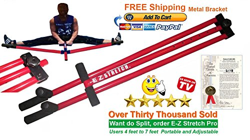 FREE SHIPPING E-Z Stretch Pro Steel Leg Stretcher Metal Leg Stretcher Martial Arts Leg Stretcher Split Machine Stretch Machine Leg Stretcher Leg Stretch Machine Leg Stretching Machine Karate Leg Stretcher Kung Fu Stretching MMA Leg Stretcher (Split Stretcher compare prices)