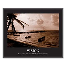 ADVANTUS Framed Motivational Print, Vision, Sepia-Tone, 30 x 24 Inches, Black Frame (78163)