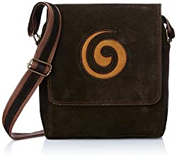 Alessia74 Women's Sling Bag (Brown) (PBG504B)