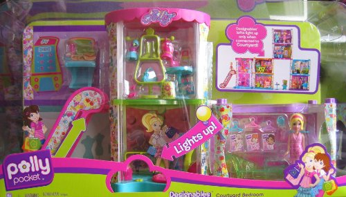 Polly Pocket Patio Designables Dormitorio Playset - Lights Up!  (2008)