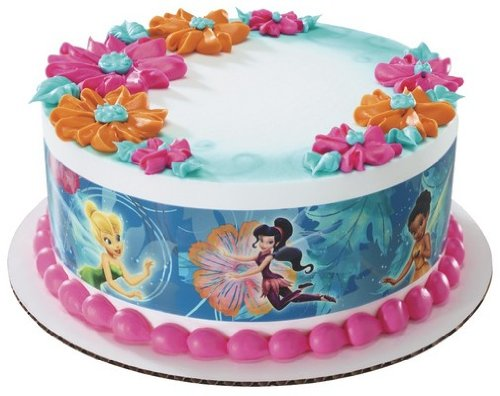 DISNEY FAIRY FRIENDS TINKERBELL PIXIE HOLLOW Edible Image FROSTING SHEET Cake Topper - SIDE STRIPS - 1