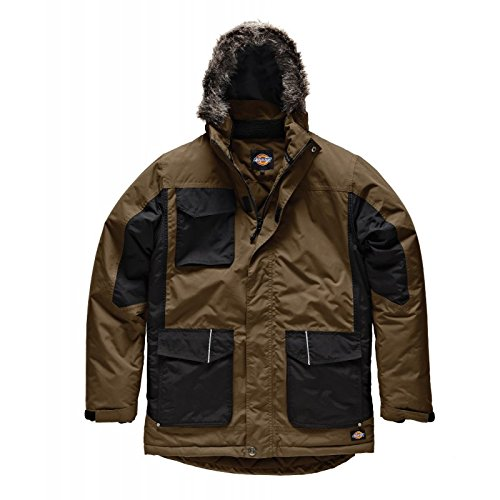 Dickies, JW7008, giacca bicolore Parka cachi / nero KHB XL