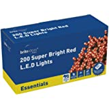 Brite Ideas Festive 200 Multiaction LED Lights, Red