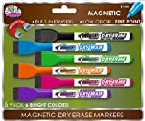 Board Dudes SRX Magnetic Dry Erase Markers, 6-Pack, Assorted Colors (4560VA-12)