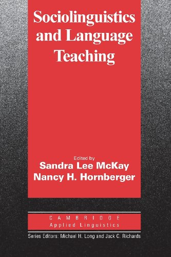 Sociolinguistics and Language Teaching (Cambridge Applied...