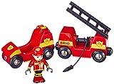 BRIO BRI-33576 Rail Light and Sound Fire Engine