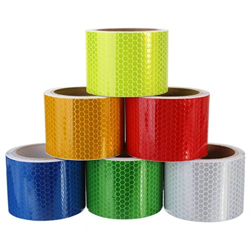 KING-DO-WAY-5cm3m-Klebeband-Warnklebeband-Reflektorband-Sicherheit-Markierung-Band