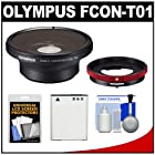 Olympus FCON-T01 Fisheye Converter Lens for Tough TG-1, TG-2 & TG-3 iHS Waterproof Digital Camera with CLA-T01 Conversion Lens Adapter + Li-90B Battery + Accessory Kit