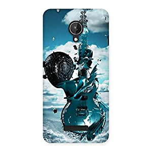 Cute Anime Sky Guitar Back Case Cover for Micromax Canvas Spark Q380
