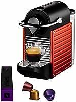 Krups YY1202FD Nespresso Pixie Machine à Espresso Rouge Electrique orangé
