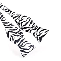 TopTie Mens Zebra Animal Print Self-Tie Bow Tie