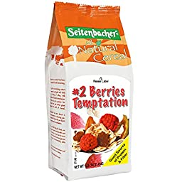 Seitenbacher Musli #2 Berries Temptation, with European Raspberries, Wheat Free, 16-Ounce (Pack of 6)