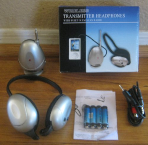 Transmitter Headphones Wireless With Built In Fm Scan Radio