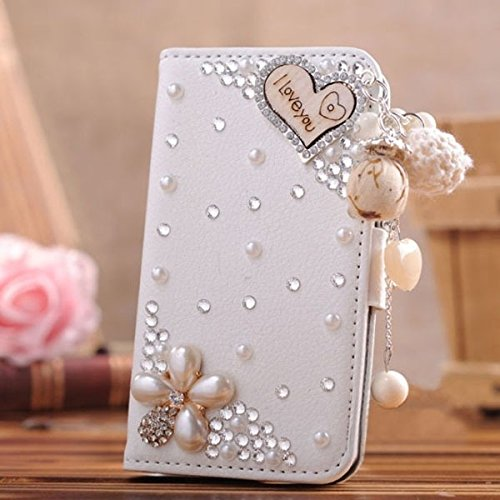 HTC one M9+ [HTC Hima Ultra,HTC Hima Ace Plus,M9pt] case 3D bling leather crystal diamond wallet Credit card stand Case For HTC one M9+ phone(I Love you) (Htc Hima Ace Plus Case compare prices)