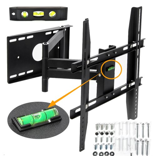 "Lumsing Articulating Full Motion Multi Position Tv Tilt Swivel Wall Mount 14-40"" Led Lcd Plasma Flat Panel Screen ---Long Cantilever Tv Wall Bracket Mount For Most 14 15 19 21 22 23 26 27 30 32 37 40"" With Magnetic Bubble Level ( Heavy-Duty Solid Steel Co"