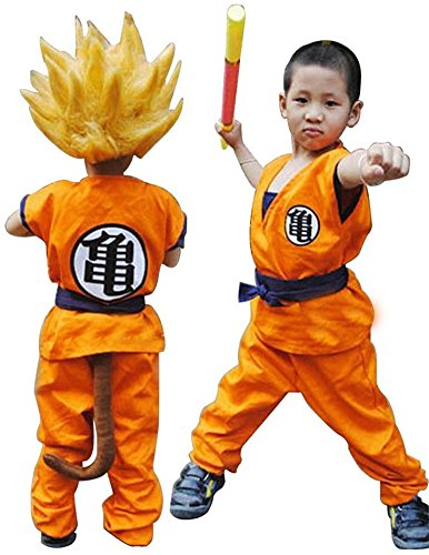 Halloween Costume for a Boy Dragon Ball Z Son GOKU Saiyan