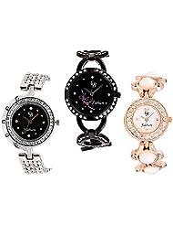 CB Fashion Combo Of Analog Multicolour Dial Women's Watch (RW204)