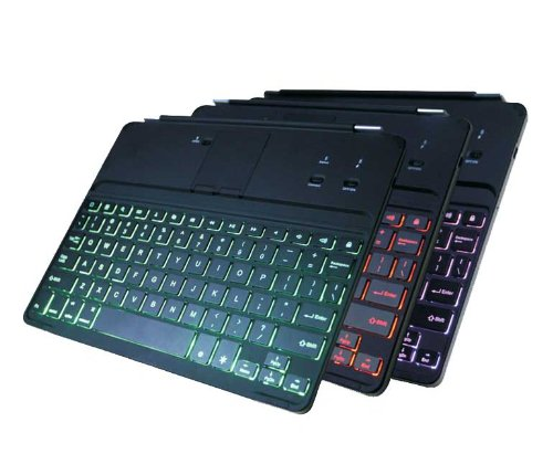Ultrathin Backlit Bluetooth Keyboard Case Cover For Ipad 2/3/4 With 7 Color Changeable Led Light