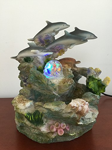 Sintechno Snf12031 1 Dolphins And Turtle Water Fountain Home Garden Decor Fountains Ponds