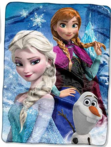 Disney Frozen, Ice Castle High Definition Silk Touch Throw, 46 by 60""