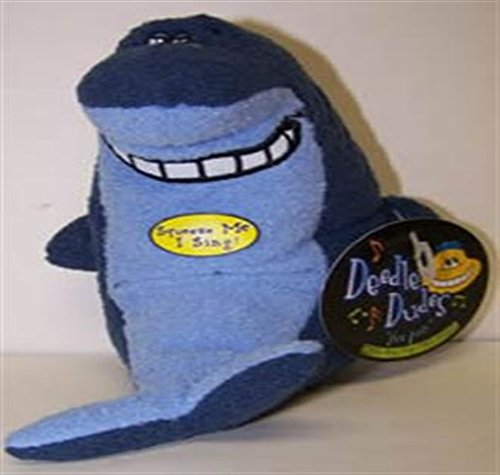 Multi Pet Deedle Dudes Shark Dog Toy - 1