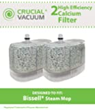 2 Bissell Vacuum Cleaner Water-Calcium Filters; Fits The Bissell Vacuum Steam Mop 218-5600; Part # 2185600 (218-5600); Designed & Engineered by Crucial Vacuum